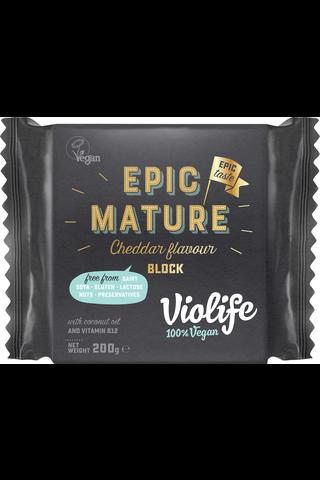 Violife 100% Vegan Epic Mature Cheddar Flavour Block 200g