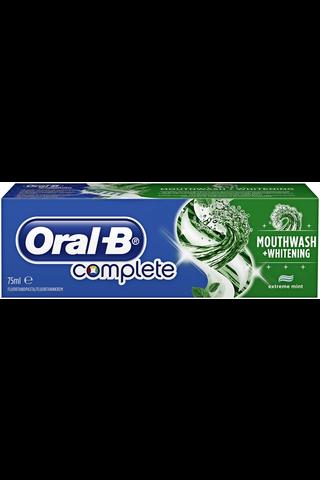Oral-B 75ml Complete Mwash&Whitening hammastahna