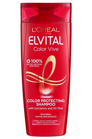 L'Oréal Paris Elvital 250ml Color-Vive Shampoo Värjätyille Hiuksille