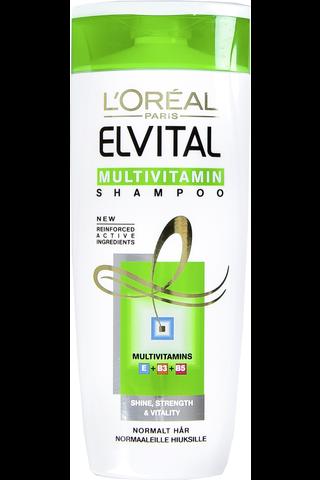L'Oreal Elvital 250ml Multivitamin shampoo Normaaleille hiuksille