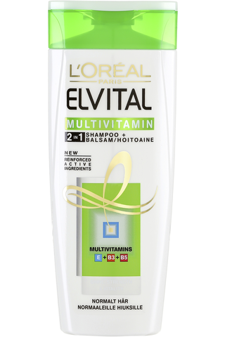 L'Oréal Paris Elvital 250ml Multivitamin 2in1 shampoo&hoitoaine normaaleille hiuksille