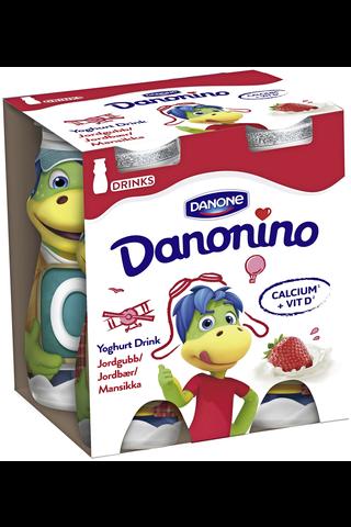 Danone Danonino 4x100g jogurttijuoma mansikka
