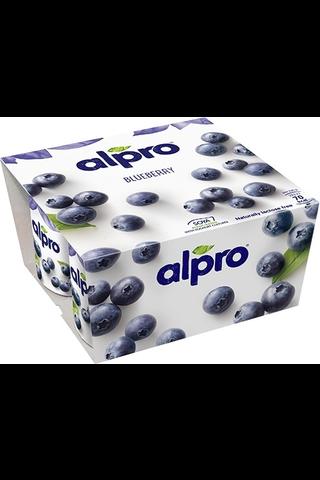 Alpro 4x125g Mustikka soijavalmiste