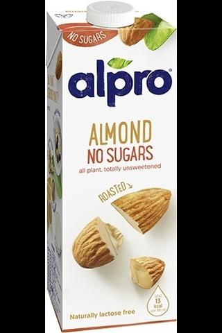 Alpro Unsweetened Mantelijuoma ilman sokereita 1L