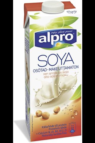 Alpro 1L Maustamaton soijajuoma