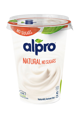 Alpro Unsweetened Hapatettu soijavalmiste ilman sokereita, maustamaton 500g