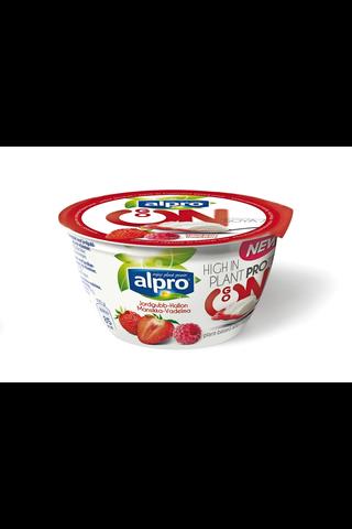 Alpro Go On 150g Mansikka/vadelma soijavalmiste