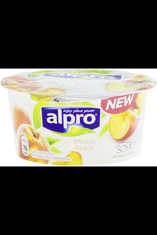 Alpro 150g soijavalmiste persikka