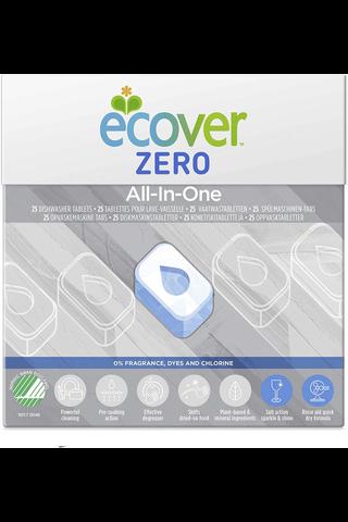 Ecover Zero 500g Konetiskitabletit All-in-One 25kpl