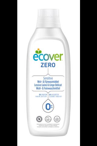 Ecover Zero 1L Villa- ja hienopesuaine
