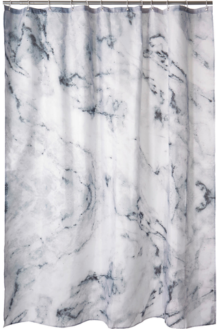 Tutti suihkuverho Marble 180x200 cm harmaa
