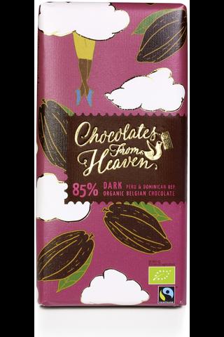 Reuter 100g suklaalevy tumma suklaa 85% Reilu kauppa luomu