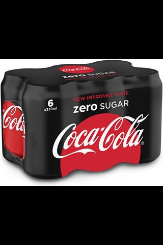 Coca-Cola Zero 33 cl tlk 6P virvoitusjuoma