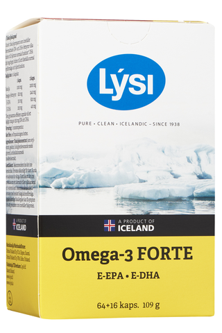 Lysi 80kaps Omega-3 Forte vanha kalaöljykapseli ravintolisä