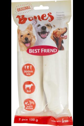 Best Friend 130g Bones vaalea pururulla S/M 2kpl