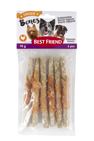 Best Friend Bones herkkuluutikku kanafileellä 12cm 6kpl 78g