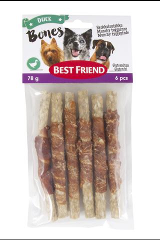 Best Friend Bones herkkuluutikku ankkafileellä 12cm 6kpl 78g