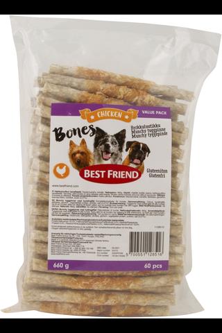 Best Friend Bones herkkuluutikku kanafileellä 12cm 60kpl 660g
