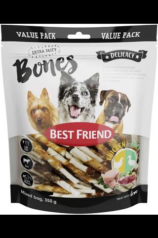 Best Friend 350g Bones purutikut kana-/ankkafileellä S/M pehmeä