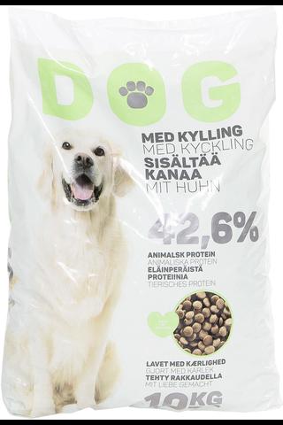 Dog 10kg koiran kuivaruoka kana