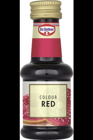Dr. Oetker Punainen elintarvikeväri 30ml