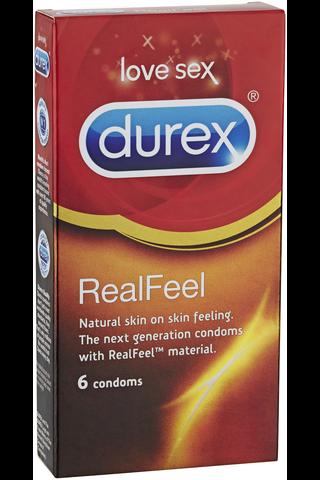Durex 6kpl RealFeel Lateksiton kond