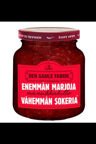 Den Gamle Fabrik enemmän marjaa vähemmän sokeria mansikkahillo 290g