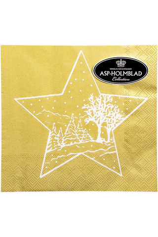 Asp 33cm christmas star gold