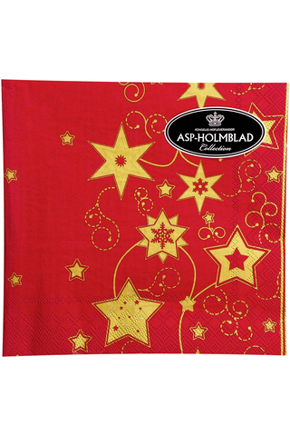 Asp 33cm christmas star deep red