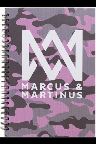 Marcus&Martinus kierremuistikirja kovakantinen A5