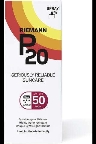 P20 100ml SPF50 spray aurinkosuoja