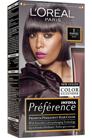 L'Oréal Paris Préférence Infinia 1 Napoli Black Musta kestoväri
