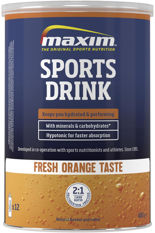 Maxim 480g Sports Drink Fresh orange urheilujuomajauhe appelsiininmakuinen