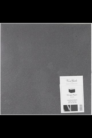 Nellen kimallepaperi musta 30x30cm 2 arkkia