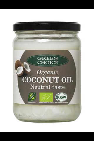 Green Choice Luomu kookosöljy neutraalinmakuinen 400g