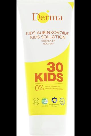 Derma 200ml Aurinkovoide lapsille, aikuisille ja herkkäihoisille