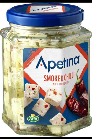 Apetina 265/150g välimerelliset juustokuutiot öljyssä sis paahdettu chili