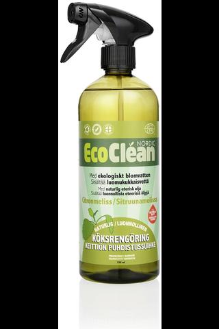 Eco Clean 750ml keittiösuihke sitruunamelissa