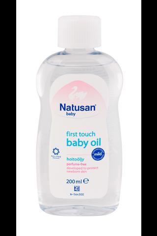Natusan Baby 200ml First Touch Oil hoitoöljy hajusteeton