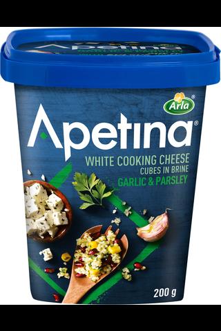 Arla Apetina 200g välimerelliset juustokuutiot 3% valkosipuli & persilja