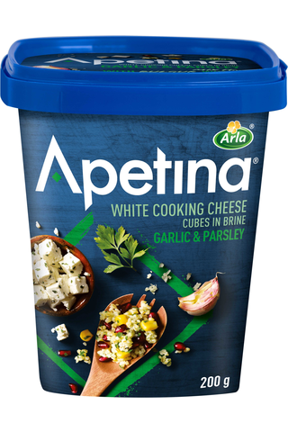 Apetina 200g 3% Valkosipuli-Persilja välimerelliset juustokuutiot