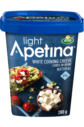 Apetina 200g 3% välimerelliset vähälaktoosinen juustokuutiot
