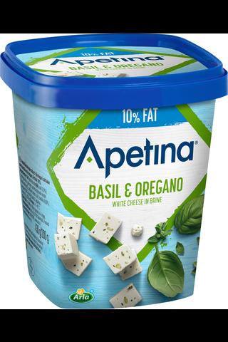 Arla Apetina 200g välimerelliset juustokuutiot 10% basilika-oregano