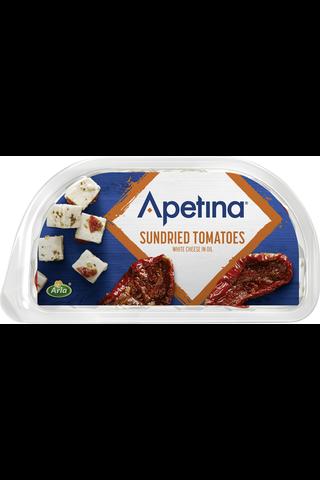 Apetina 100/70g snack aurinkokuivatut tomaatit ja välimerelllisiä juustokuutioita öljyssä