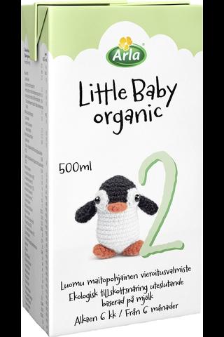Arla Little Baby 2 500 ml Luomu UHT maitopohjainen vieroitusvalmiste käyttövalmis Äidinmaidonkorvike