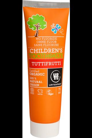 Urtekram luomu Tuttifruttihammastahna fluoriton 75ml