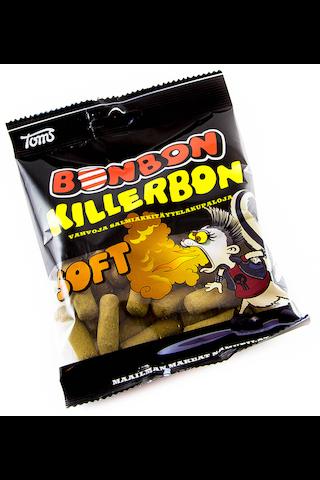 BonBon Killerbon Soft 125g salmiakkitäytelakritsapussi