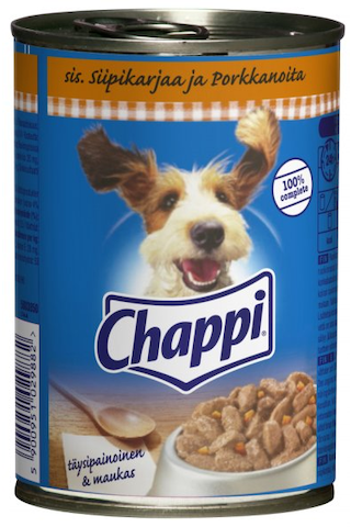 Chappi 400g Siipikarjaa ja Porkkanoita kastikkeessa täysrehua aikuisille koirille