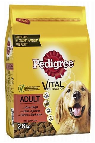 Pedigree Adult Härkää ja Siipikarjaa 2,6kg