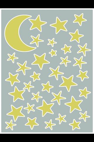 Forwall sisustustarra kuu & tähdet